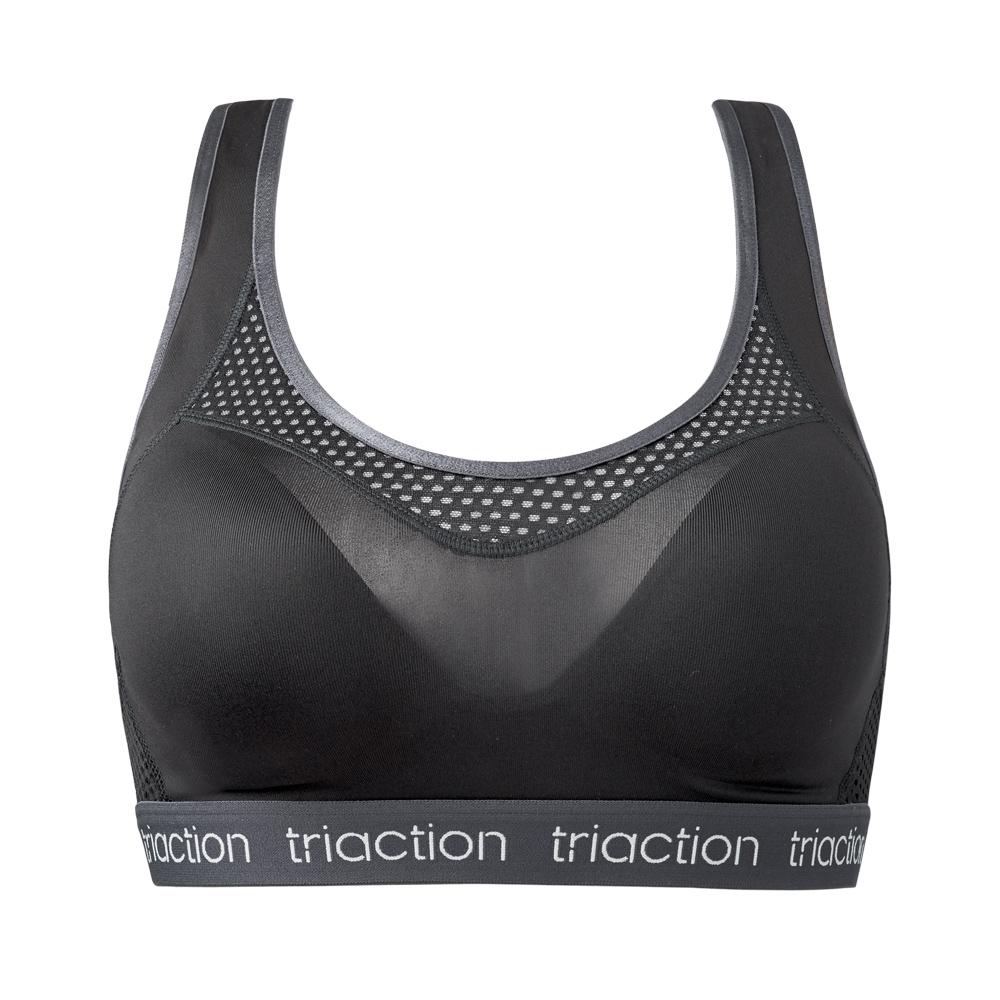 黛安芬-Triaction Studio挖背運動內衣 M-EEL 黑