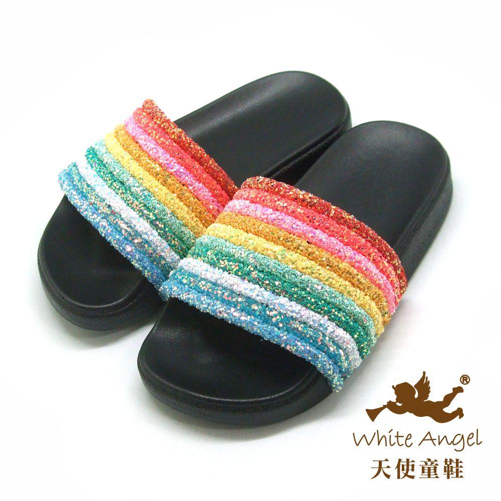 天使童鞋 萌萌天使愛彩虹(中童)D950-黑