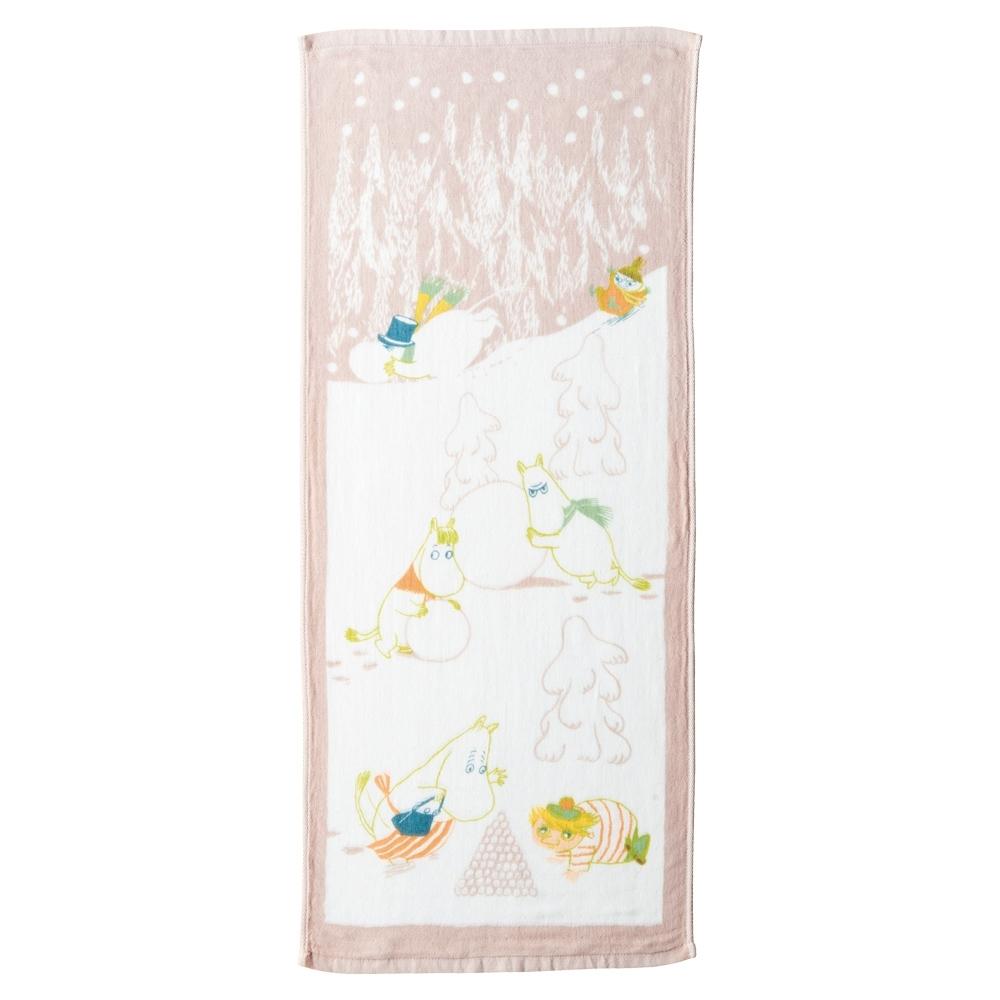 日本丸真 Moomin嚕嚕米 今治紗布毛巾 冬季雪球