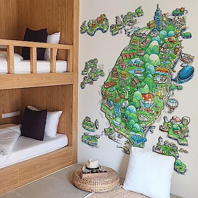 時尚壁貼-台灣地圖壁貼