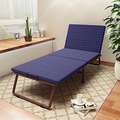 未藍生活 3段收納折疊床-寬68cm(可拆洗免安裝)