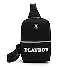 PLAYBOY- 單肩背包  黑白風尚系列 -黑色
