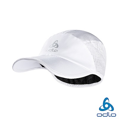 Odlo CERAMICOOL 透氣 抗UV 可折疊 棒球帽 白