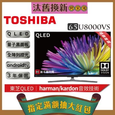 TOSHIBA東芝65型量子4K安卓區域控光黑面板3年保智慧聯網三規4KHDR液晶顯示器(65U8000VS)