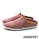 HANNFORT CALIFORNIA 柔美荷葉慵懶穆勒鞋-女-粉紅