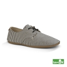 SANUK 海軍風條紋休閒鞋-女款(黑白色)