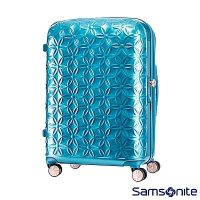 Samsonite新秀麗 24吋Theoni 3D花卉圖案可擴充硬殼行李箱(土耳其藍)