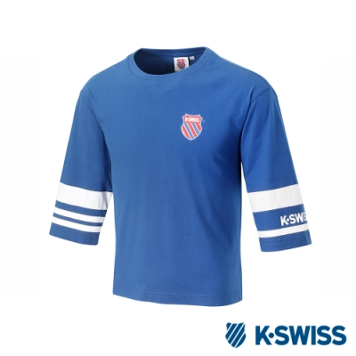 K-SWISS Half Sleeve T-Shirt印花短袖T恤-女-藍
