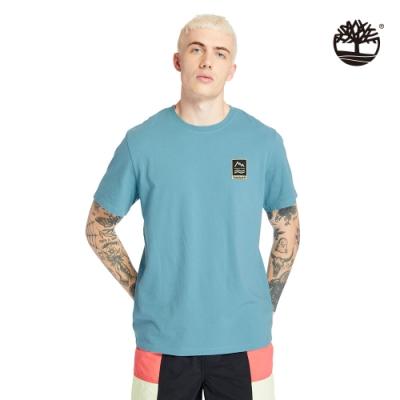 Timberland 男款亞得里亞海藍戶外ARCHIVE圖案短袖T恤|A2DV3