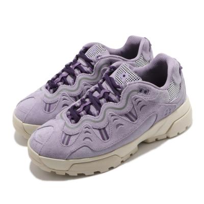 Converse 休閒鞋 GLF Gianno 運動 男女鞋 厚底 麂皮 質感 穿搭 小花 情侶款 紫 米白 169842C
