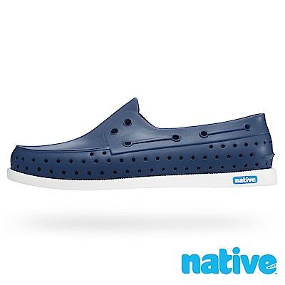 native HOWARD 男/女鞋-海軍藍x貝殼白