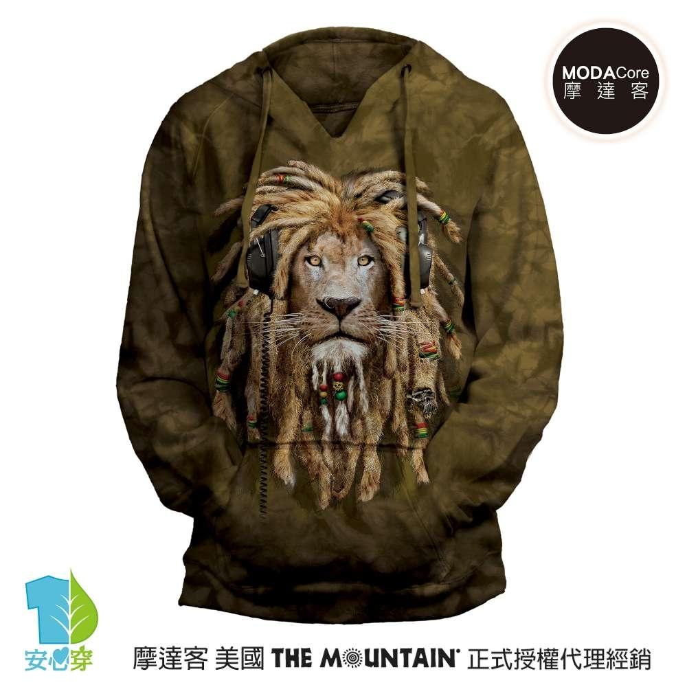 摩達客 預購 美國進口The Mountain DJ加滿獅 女版V領長袖連帽T恤