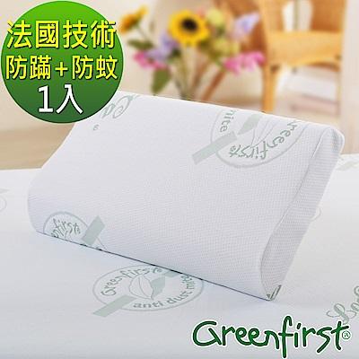 LooCa 法國防蹣防蚊特大透氣記憶枕-1入