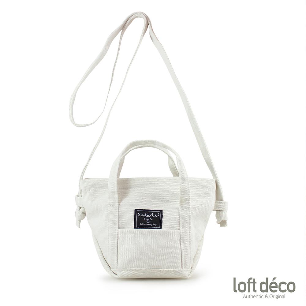 Loft Deco | White | 無感帆布隨行包