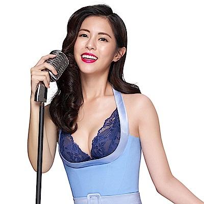 蕾黛絲-20週年V真水 D罩杯內衣 聽海深藍