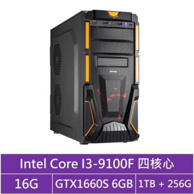 技嘉B365平台[火雲神劍]i3四核GTX1660S獨顯電玩機