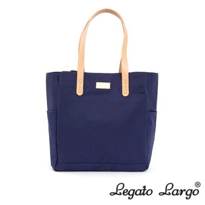 Legato Largo Lineare 日系簡約感 內外防潑水多口袋側背包 深藍