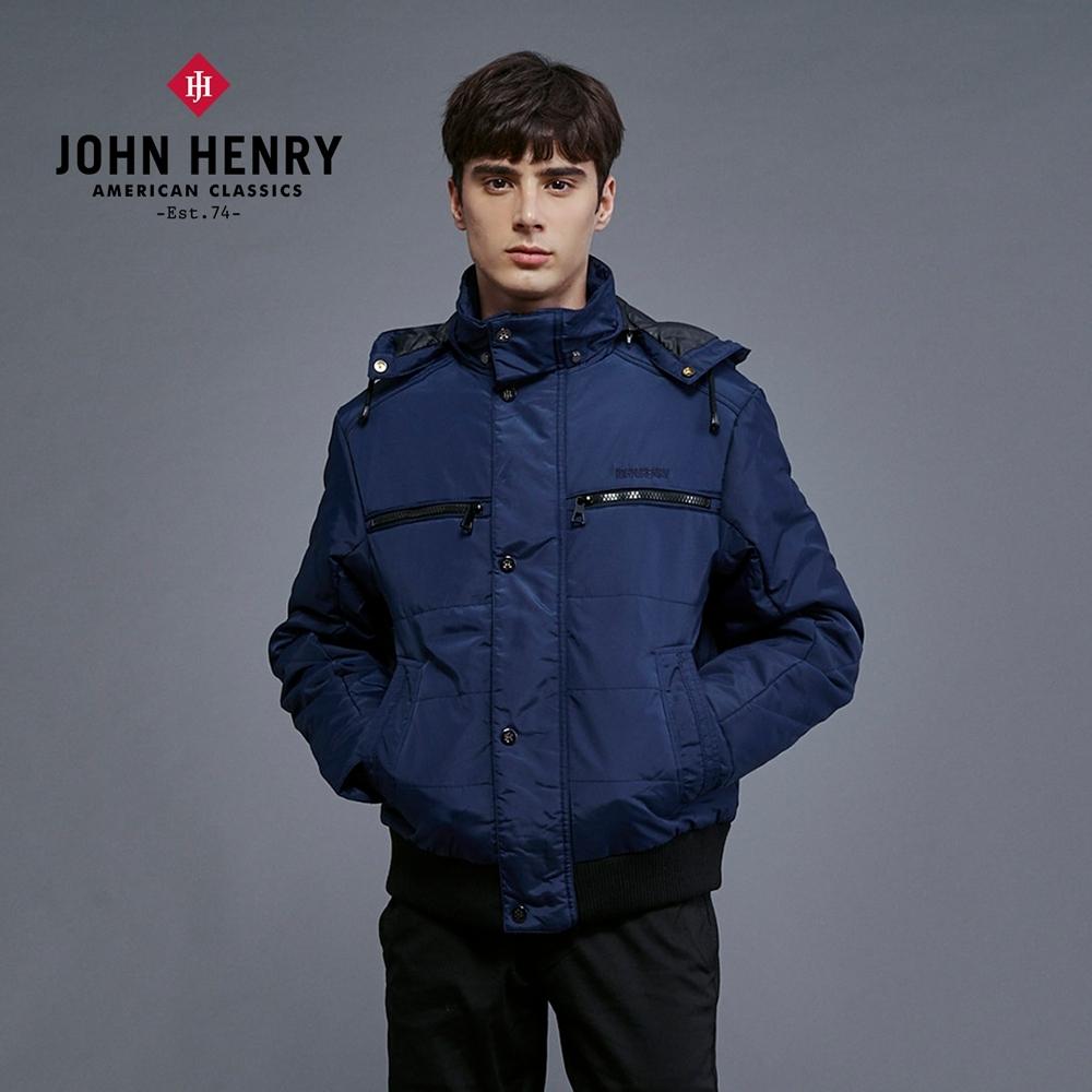 【JOHN HENRY】鋪棉連帽外套-兩色選