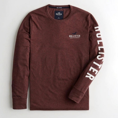 Hollister HCO 長袖 T恤 紅色  1417
