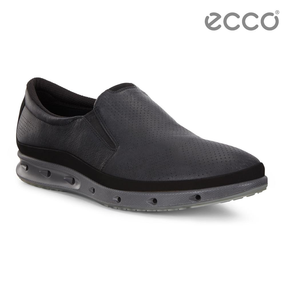 ECCO COOL M 360度環繞防水休閒懶人鞋 男-黑