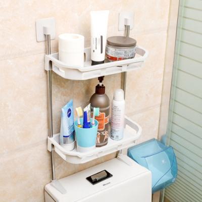 馬桶收納架/置物架(雙層) 可立式層架 無痕貼/免鑽/免打孔 廚房/衛浴適用