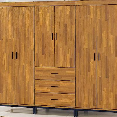 AS-艾瑪工業風三抽衣櫥-77x56x196cm