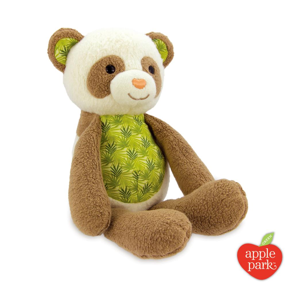 【美國 Apple Park】有機棉安撫玩偶 - 綠葉貓熊