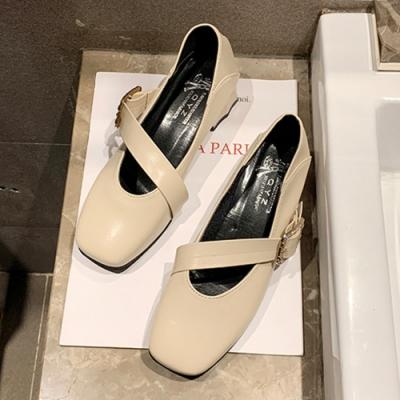 KEITH-WILL時尚鞋館 狂賣千雙甜美可愛水鑽娃娃鞋-米