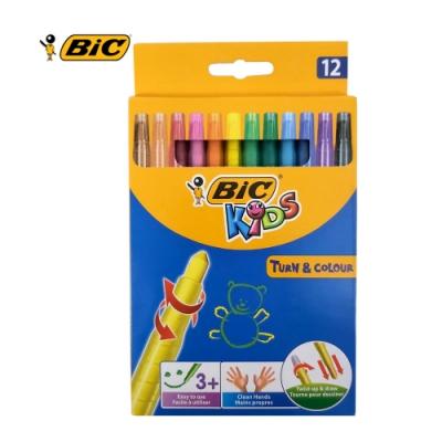 BIC 12色旋轉蠟筆