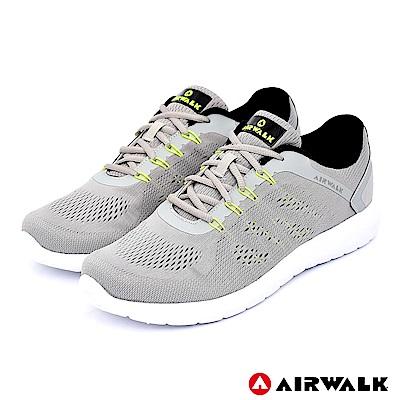 【AIRWALK】活力追夢針織運動鞋-深灰