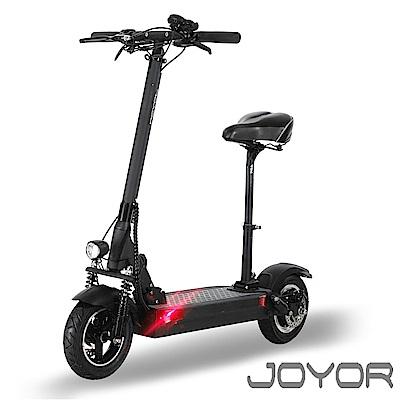 【JOYOR】EY-08A+ 48V鋰電定速 500W電機大輪徑碟煞電動滑板車坐墊版