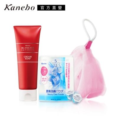 Kanebo 佳麗寶 suisai酵素潔膚粉雙重淨白泡泡網組