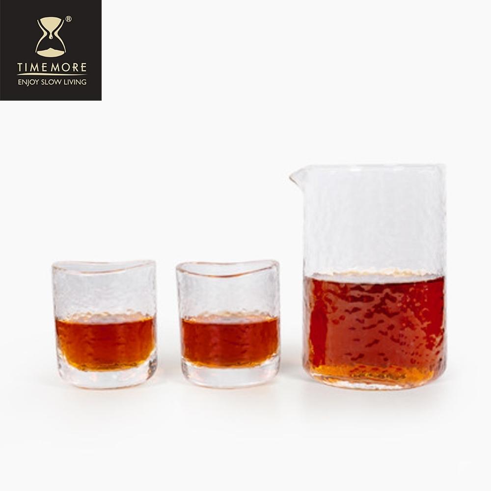TIMEMORE泰摩 錘目紋玻璃咖啡分享壺套裝組-直立無柄
