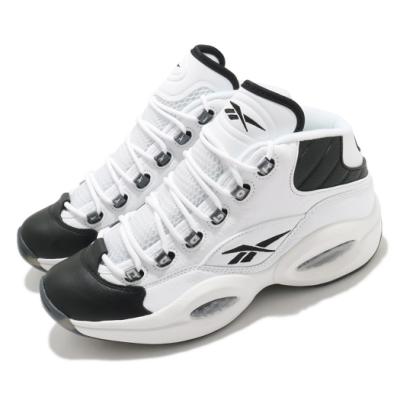 Reebok 籃球鞋 Question Mid 運動 男鞋 經典款 復刻 Iverson 舒適 穿搭 白 黑 GX5260