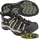 KEEN 1001906黑/淺咖啡 NewPort H2 男戶外護趾涼鞋