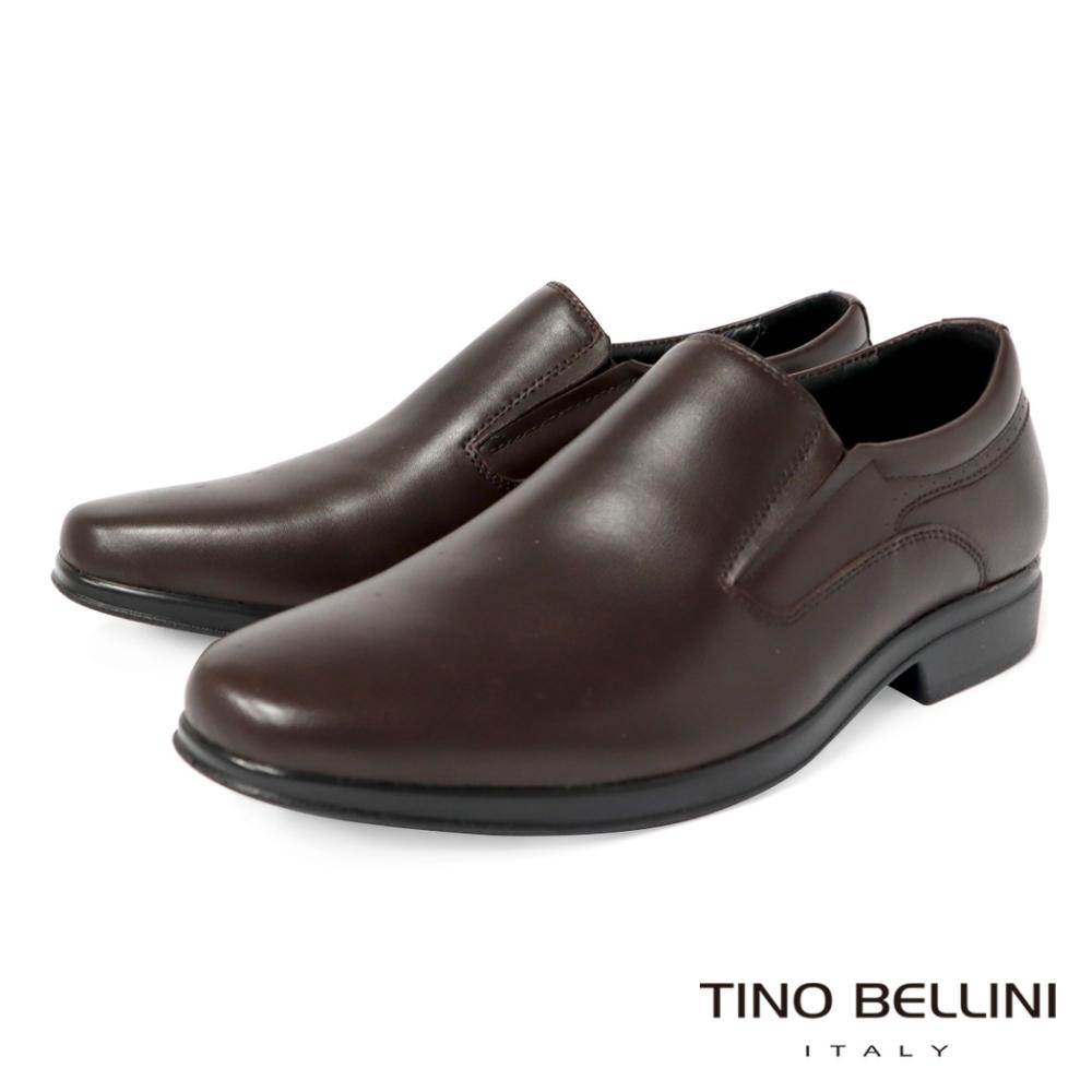 TINO BELLINI 牛皮優雅型男直套式紳士鞋
