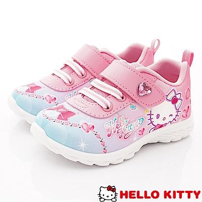 HelloKitty童鞋 晶亮抗菌運動款 SE 18735 粉(中小童段)