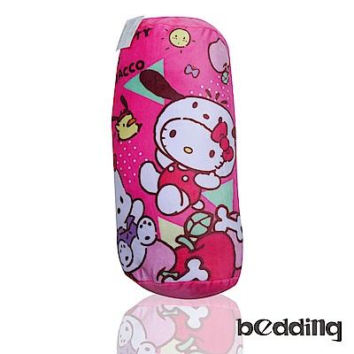 BEDDING Hello Kitty三麗鷗正版授權圓筒抱枕-粉色凱蒂貓
