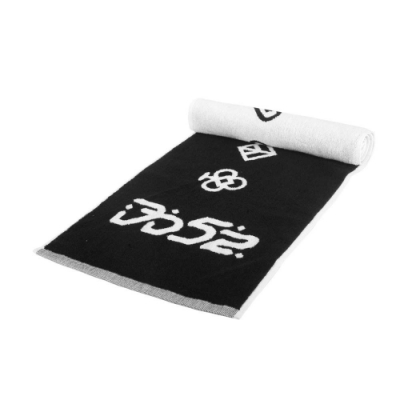 KAPPA DD52聯名毛巾-海邊 游泳 戲水 慢跑 路跑 菱格世代 純棉 台灣製 37137ZW-005 黑白