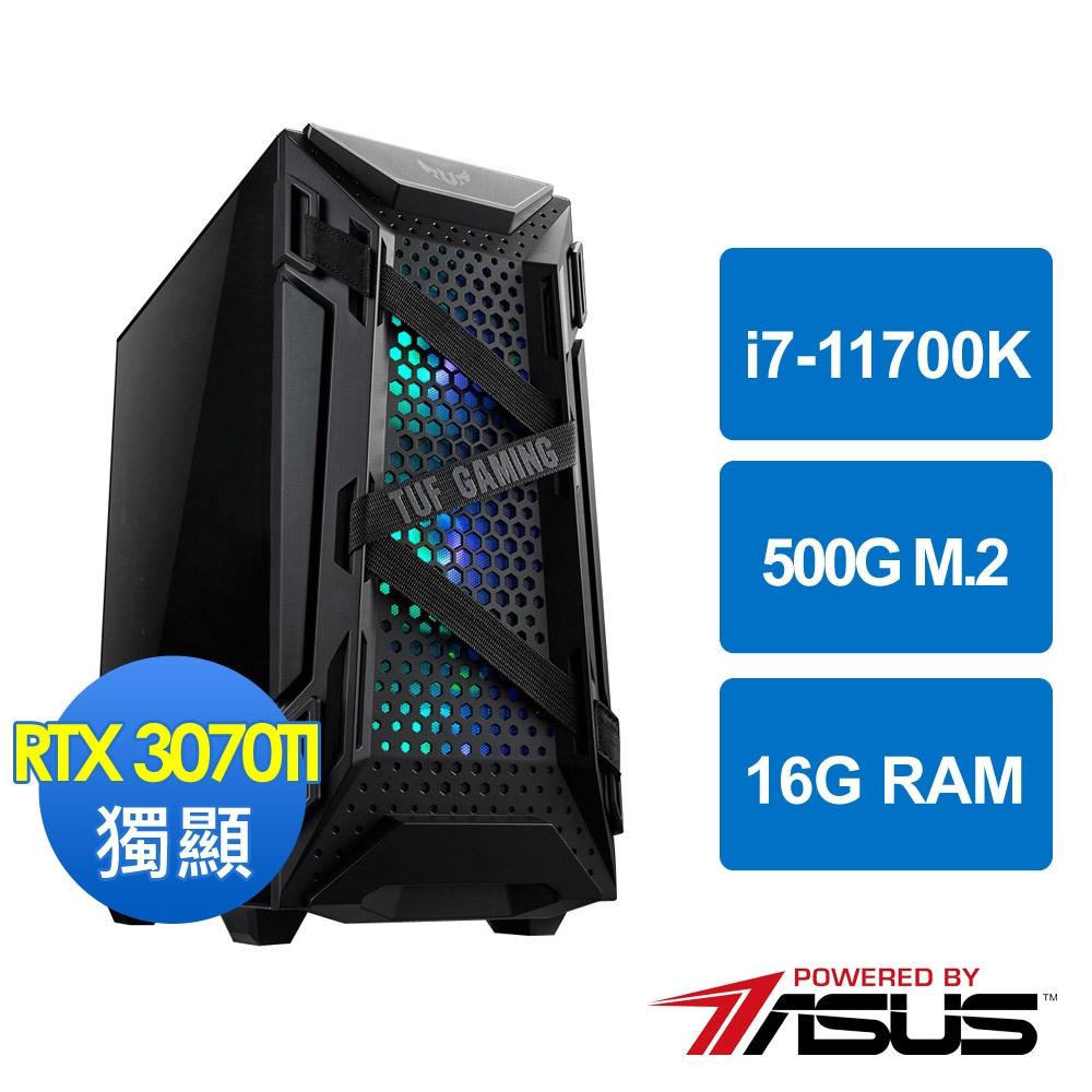 華碩Z590平台[邪軍武帝]i7-11700K/16G/RTX3070TI/500G_M2
