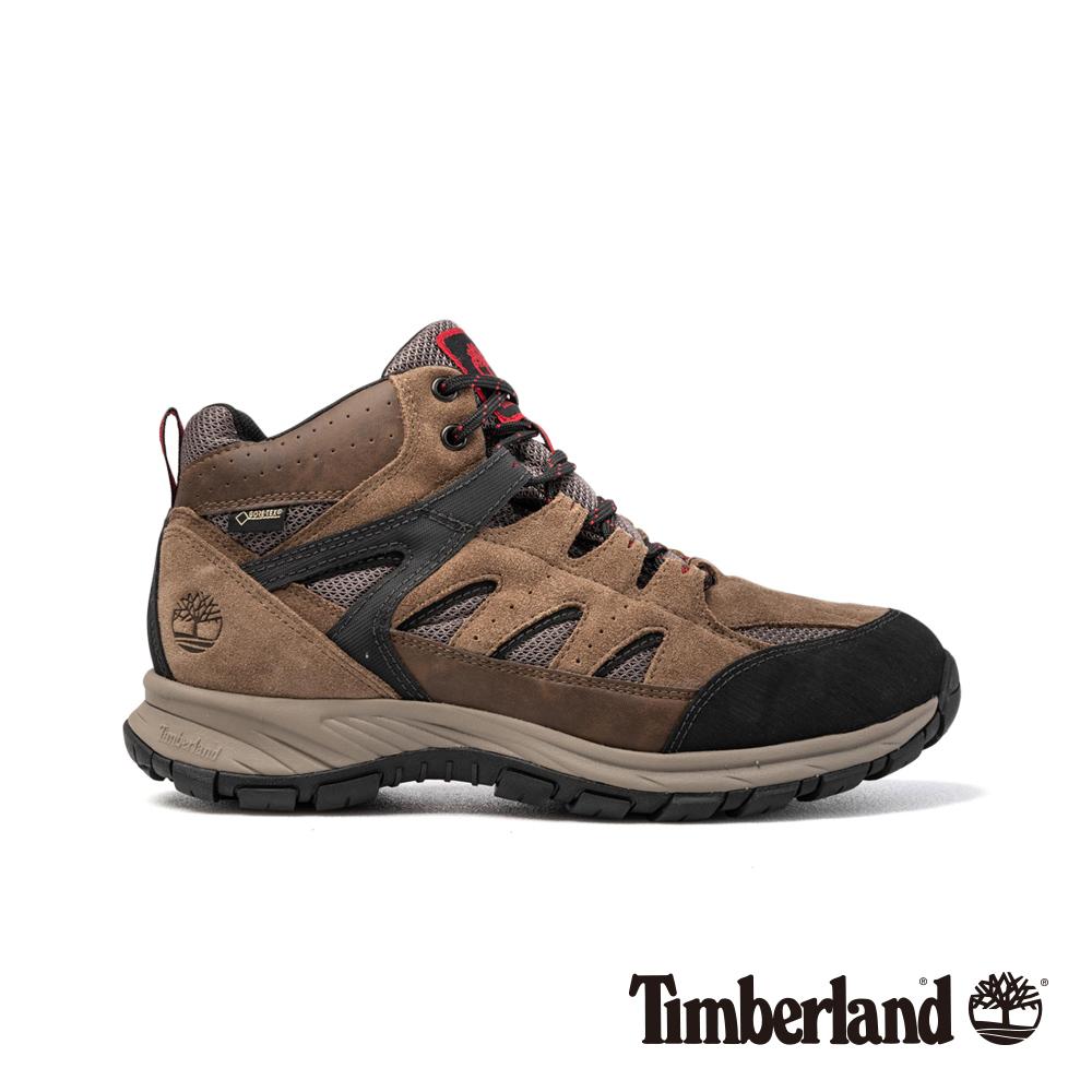 Timberland男款淺棕色絨面SadlerPass健行鞋/靴|A1QF1