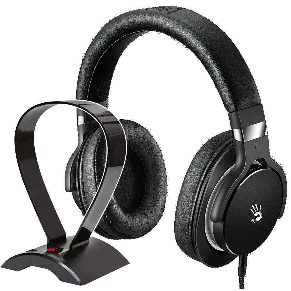 A4 Bloody M550 魔磁雙震膜高音質音樂耳機 (黑灰)