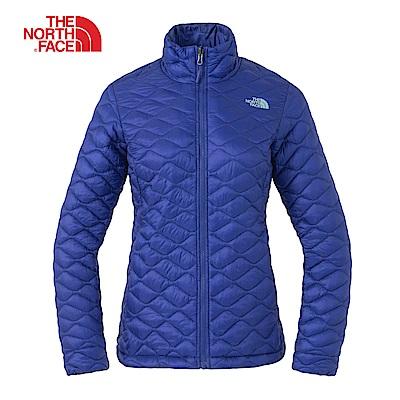 The North Face北面女款藍色防潑水保暖外套 3L97ZDE