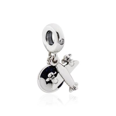 Pandora 潘朵拉 魅力小飛機 垂墜純銀墜飾