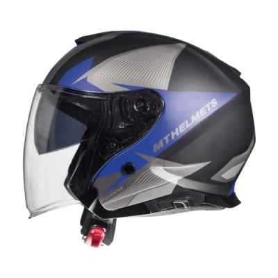 MTHELMETS MT安全帽 THUNDER3 sv Jet WNG系列消光灰藍