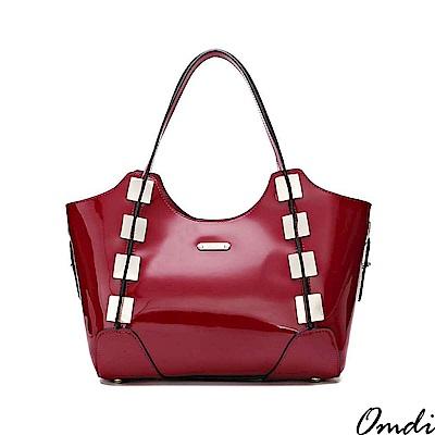 Omdi 個性時尚亮眼可拆手提包(紅色)