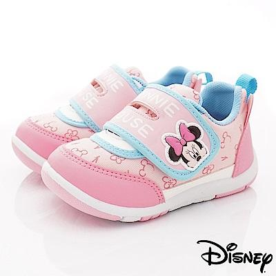 迪士尼童鞋 米奇皮質印花休閒款 ON19366粉(中小童段)