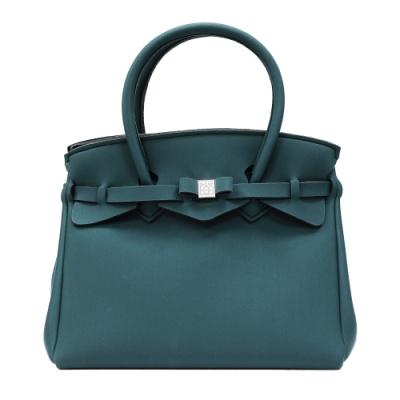 SAVE MY BAG 義大利品牌 MISS PLUS升級版 森綠色超輕量拉鍊手提托特包