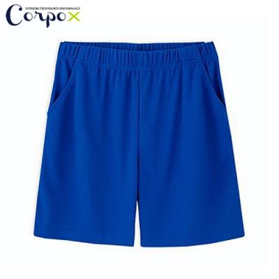 CorpoX 男款強悍吸排mesh網眼運動褲-寶藍