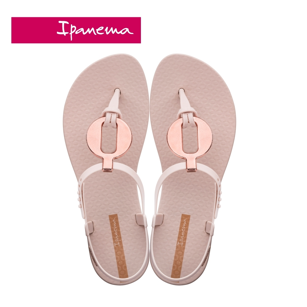 IPANEMA  CLASS  VITTA圓型金屬感造型T字涼鞋-淺粉